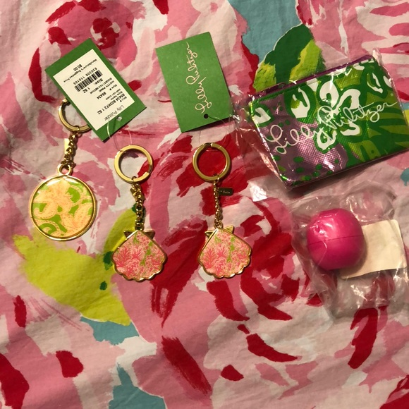 Lilly Pulitzer gift with purchase keychain coin